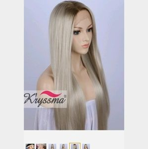 Lace front  straight blond wig